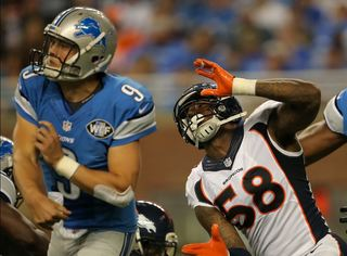 Broncos' Miller receives gift meant for Stafford
