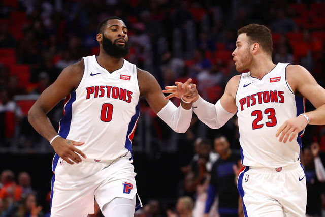 Meet the 2018 19 detroit pistons ahead of the season opener wxyz detroit mi february 14 andre drummond 0 of the detroit pistons celebrates a second half basket with blake griffin 23 while playing the atlanta hawks m4hsunfo