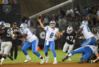 Raiders top Lions in Gruden's return to sideline