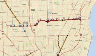 EB I-696 traffic shifting to WB lanes