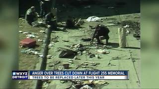 NW Flight 255 memorial trees being cut, dying