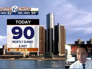 FORECAST: Near 90° today