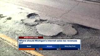 Should internet sales tax help roads or schools?