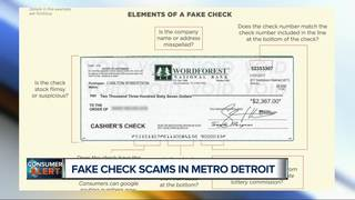 Fake check scams on the rise in metro Detroit
