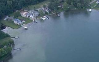 Harmful algae bloom in Belleville, Ford Lake
