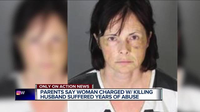 Family of woman charged in husband's death talks