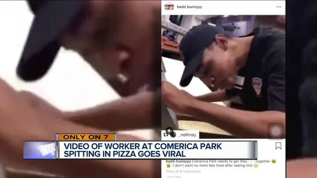 Comerica Park food worker in police custody