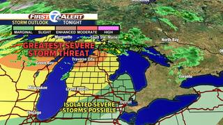 Northern Michigan facing severe weather tonight