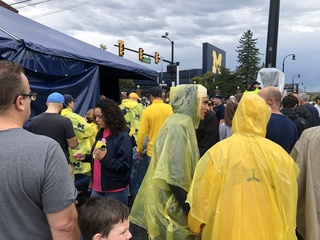 GALLERY: Rain didn't stop Michigan fans