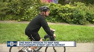 Man has mission to map Detroit's street art