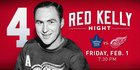 Detroit Red Wings will retire Red Kelly's No. 4
