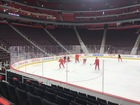 See 'em: Red Wings have black seat covers at LCA