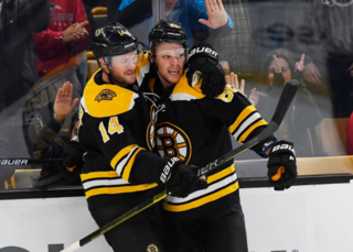 Pastrnak gets hat trick, Bruins rout Red Wings