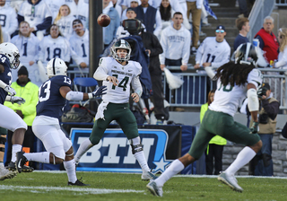 Late TD pass pushes MSU past No. 8 Penn State