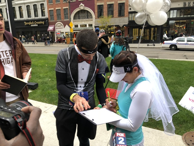 Couple Gets Married Halfway Through Freep Chemical Bank Marathon Then Continues Race