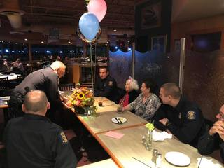 Police officers throw party for 100 y.o. woman