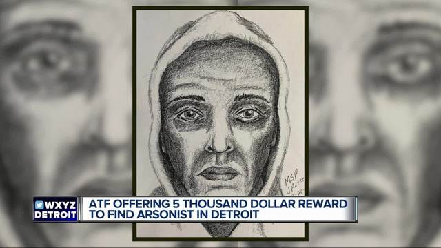 Suspect wanted for arson at Detroit mosque- up to -5-000 reward for information
