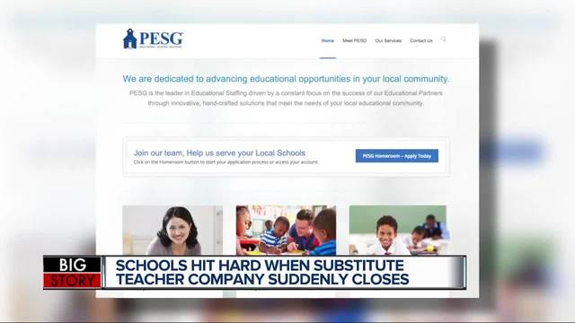 Thousands of substitute teachers in MI affected after company abruptly…