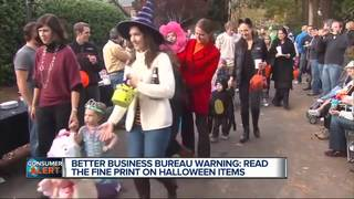 BBB issues warning on Halloween shopping