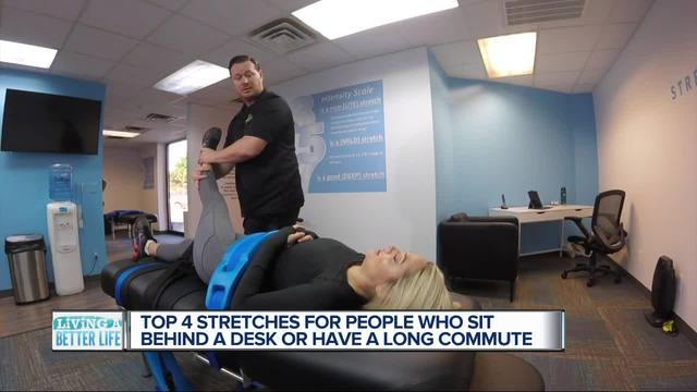 Top 4 stretches for people who sit behind a desk or have a long commute
