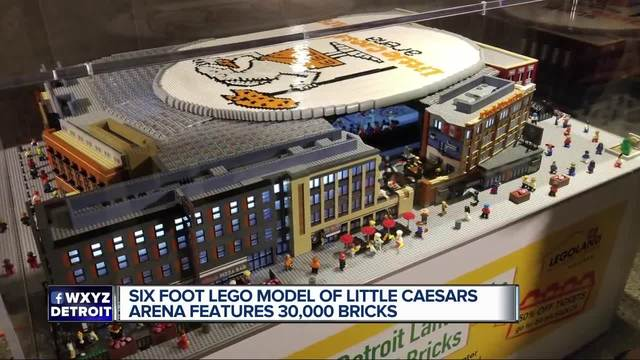 6-foot-long Lego toy replica of Little Caesars Arena unveiled