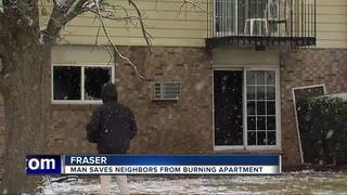 Man helps save neighbors from apartment fire