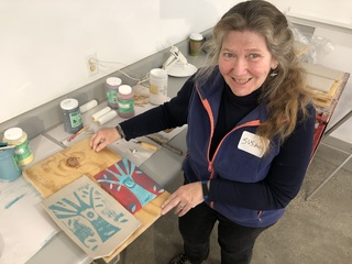 Art program helps caregivers get some