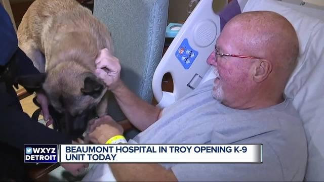 Troy Beaumont Hospital's newest security guard has four legs, plenty