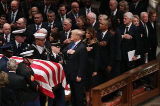Photos: Leaders at George H.W. Bush funeral