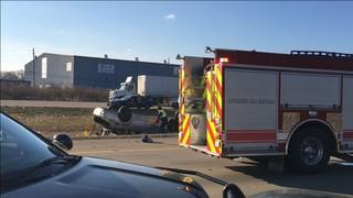 Rollover crash on WB I-94 near Telegraph