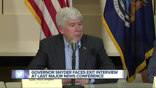 Governor Snyder talks about lame ducks